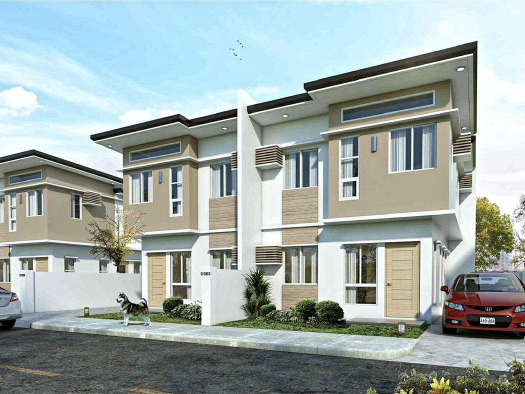 GR159 : Diamond Heights 2 Storey Single Attach Houses For Sale, Davao City  ---