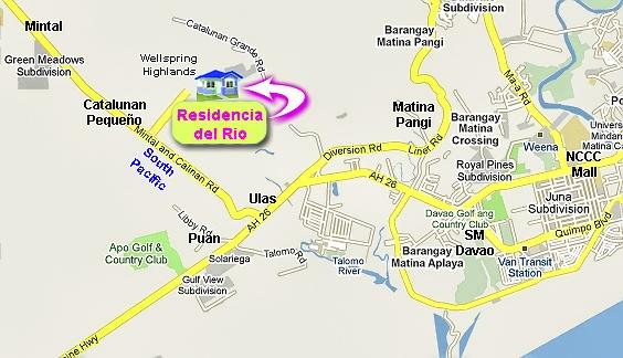 Residencia del Rio Vicinity Map